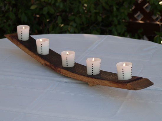 Full Stave Candle Rack (Bow Down Oil Finish Cork Feet)