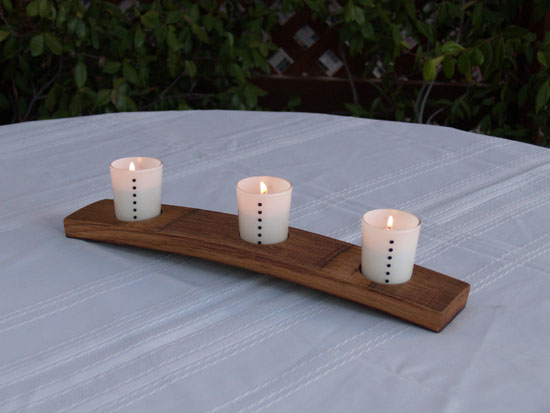 Half Stave Candle Rack (Bow Up Oil Finish)